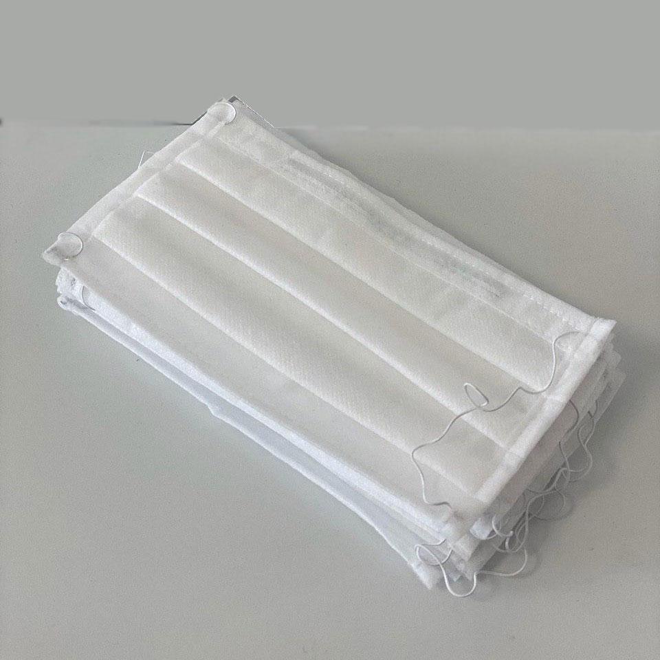 Маска захисна тришарова нестер. на резинці з носовим фіксатором.(матер Спанбонд, 30г/м2)