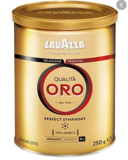 Кава мелена Lavazza Oro 250g ж\б Італія (оригінал)