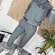 Спортивный костюм женский норма трикотаж-двухнить, брюки+мастерка, 2 цвета, р.М=42,Л=44,ХЛ=46 код 711Г, фото 3