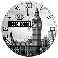 Декоративний настінний круглий годинник, 36 см Біг Бен
