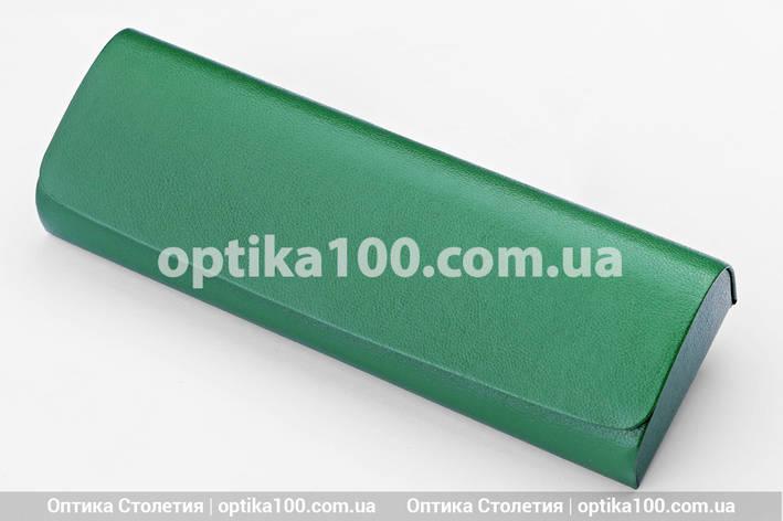Невеликий футляр для окулярів на магніті. Зелений, фото 2