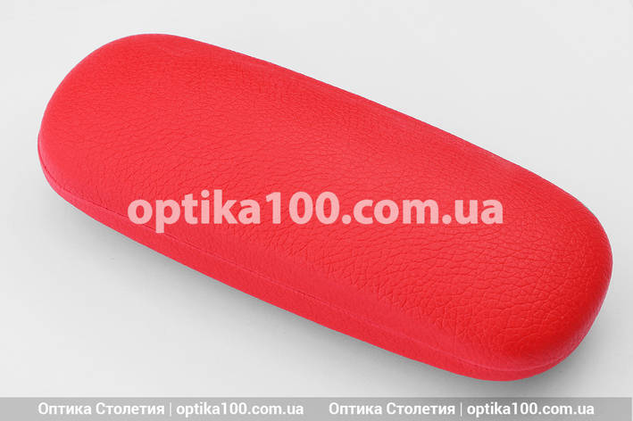 Красный футляр для очков. Матовый кожзам. ЖЕНСКИЙ, фото 2