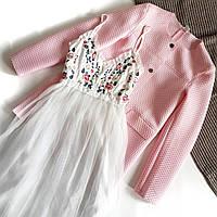 Красивое воздушное белое платье на бретелях с вышивкой