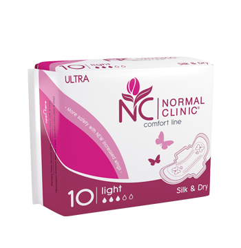 Normal Clinic Comfort ultra Крит. прокладки silk&dry - 3 капли, 240 мм. NCF03B (10шт.)