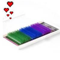 Ресницы Viva Lash / Микс / Цветные С+ 0,07 (10-11-12)
