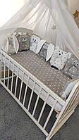 Детский постельный комплект с подушками-игрушками Лесные Звери