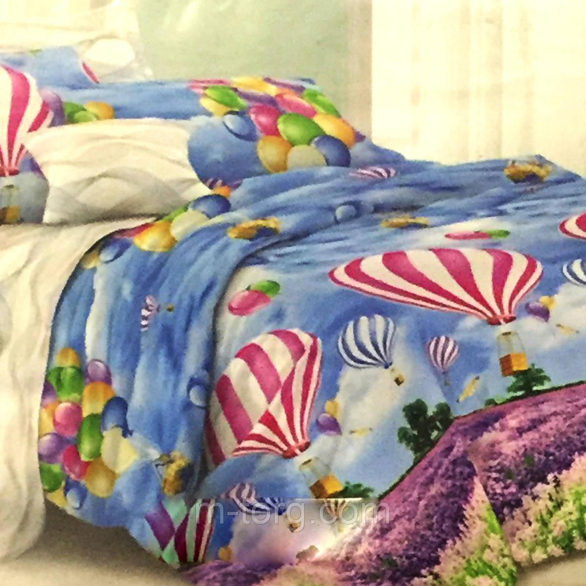 """""""Парашют"""" Комплект постельного белья евро размер 200*215 см 100% хлопок Tirotex Тирасполь"""