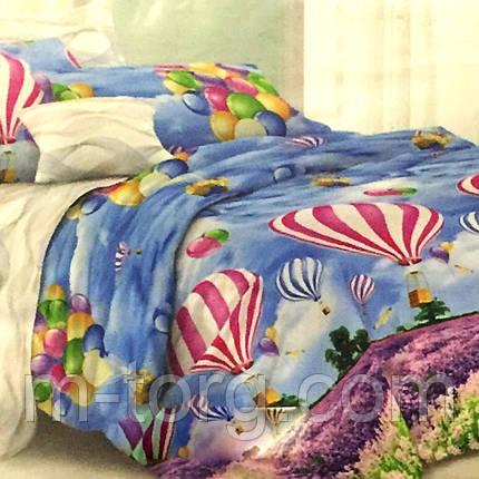 """""""Парашют"""" Комплект постельного белья евро размер 200*215 см 100% хлопок Tirotex Тирасполь, фото 2"""