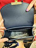 Женские маленькие клатчи с клапаном из натуральной замши внутри с кошелечком на молнии 18*14 см, фото 5