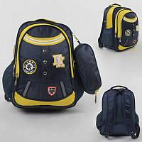 Рюкзак школьный С 43512 (50) 1 отделение, 4 кармана, мягкая спинка, пенал, в пакете