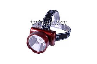Фонарь Yajia YJ-1898-1/ Акк./1 LED/  Крепление на голову