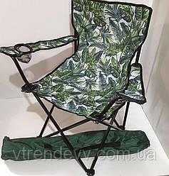 Складной стул для пикника, рыбалки Styleberg 50/50/80см 6004 Кресло раскладное Паук с подстаканником