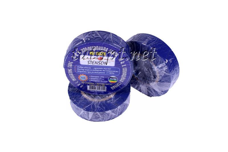 Изолента стенсон (stenson) 25м синяя MH-0026
