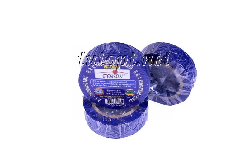 Изолента стенсон (stenson) 10м синяя MH-0021