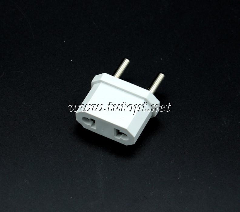 """Переходник """"LXL"""" с плоской и евро вилки на простую розетку, 10А - 220V, Белый"""