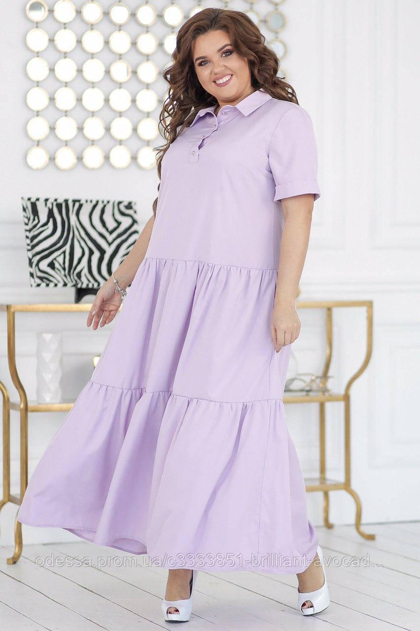 Красивое женское платье в цветовой гамме батал