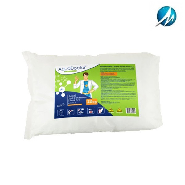 Средство для снижения уровня pH AquaDoctor pH Minus, 25 кг