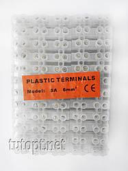 """Клеммная колодка """"Plastic Terminals"""" Модель: 5А - 6мм."""
