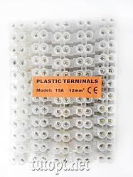 """Клеммная колодка """"Plastic Terminals"""" Модель: 15А - 12мм."""