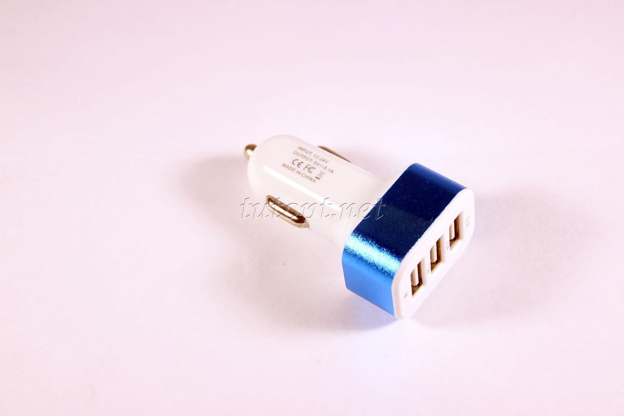 Автомобильное зарядное устройство Input - DC 12V/24V Outout - DC 5V - 2.1A / DC 5V - 2.0A / DC 5V -