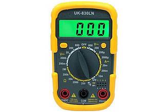 Мультиметр Digital DT830LN, типи вимірювань - DCV, АCV, DCA, АСА, Ом.