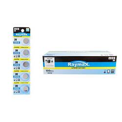 "Батарейки-Таблетки ""Raymax"", CR2016, 3V, блистер - 5шт. упаковка - 60шт."