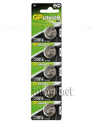"Батарейки-Таблетки ""GP Lithium Cell"", CR2016, DL2016 3V, блистер - 5шт. упаковка - 60ш"