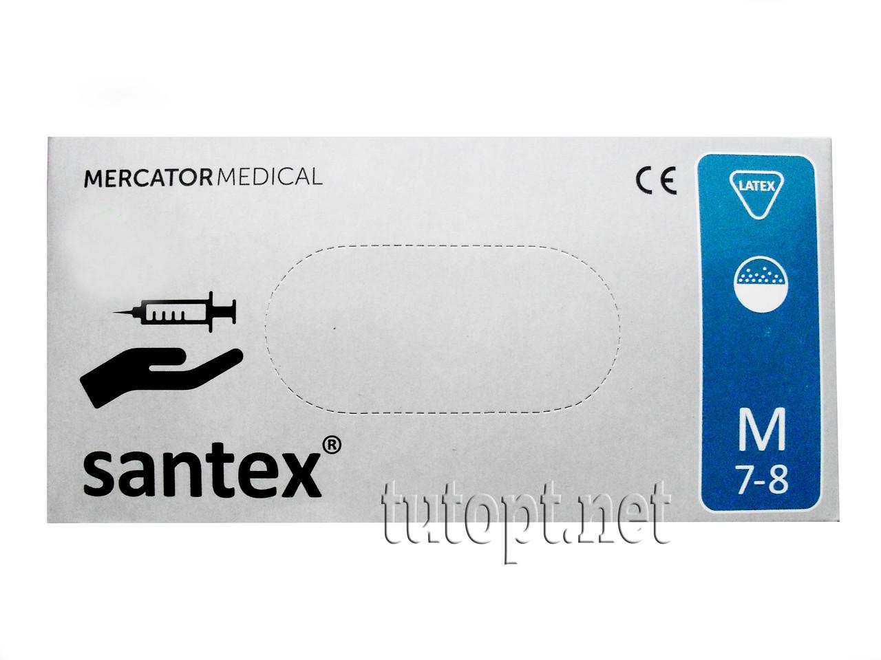 Перчатки медицинские М 7-8 белые Mercator Medical
