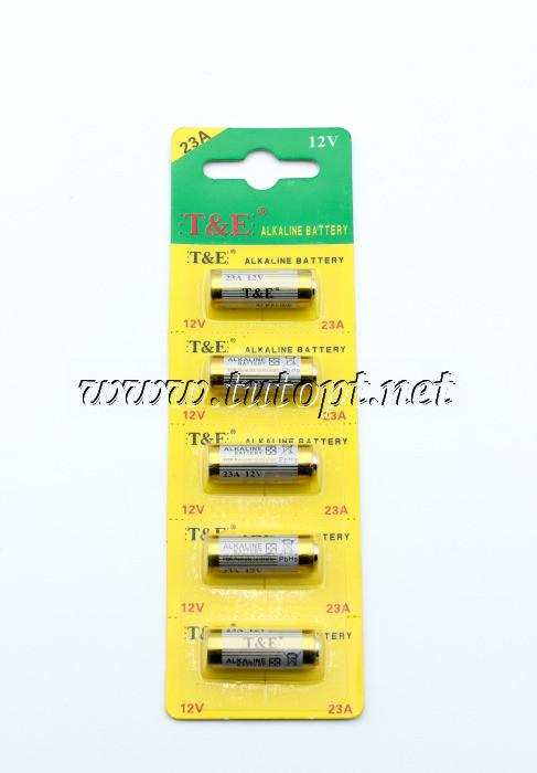 Батарейка T&E A23 Alkaline Battery 12В блистер - 5 шт.