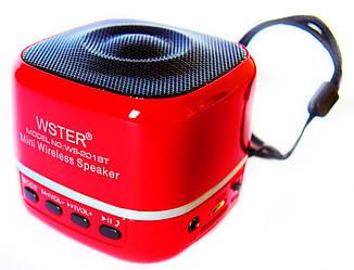 Портативная Колонка WSTER WS-201BT  Wiriless + Bluetooth + FM 87.5 - 108 MHz + TFT Card +  USB + PC