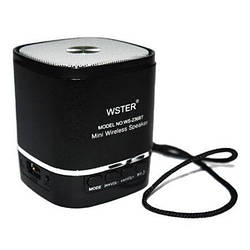 Портативная Колонка WSTER WS-236BT  Wiriless + Bluetooth + FM 87.5 - 108 MHz + TFT Card +  USB + PC