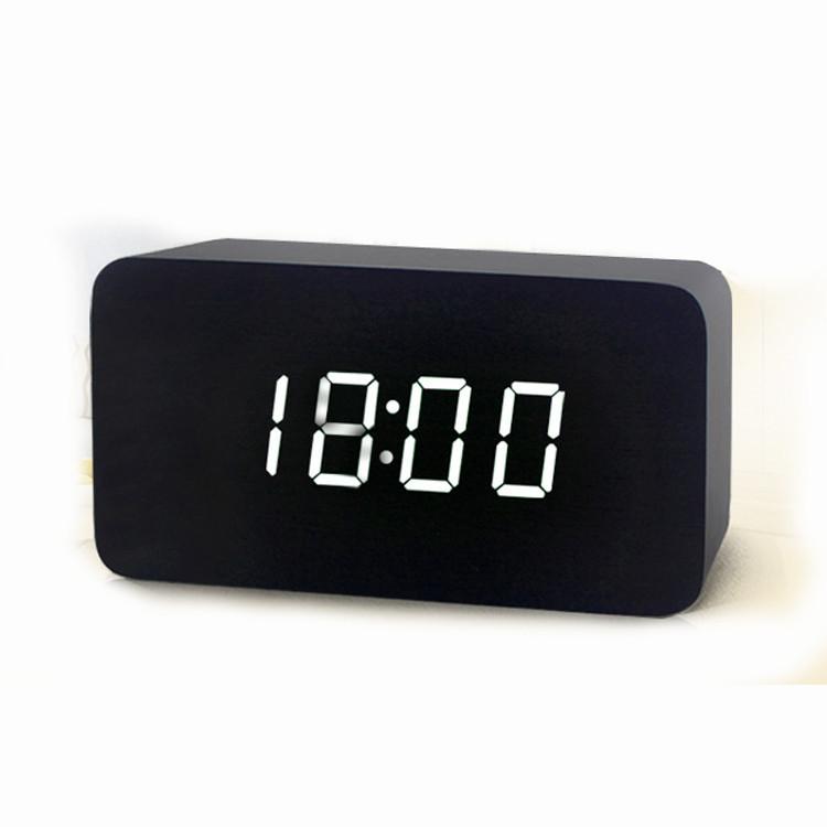 Часы-Будильник VST-863-1-White с температурой и подсветкой