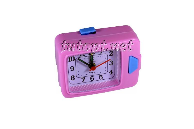 """Часы будильник QUARTZ с подсветкой на 1 R6 """"пальчиковой"""" батарейке 506"""