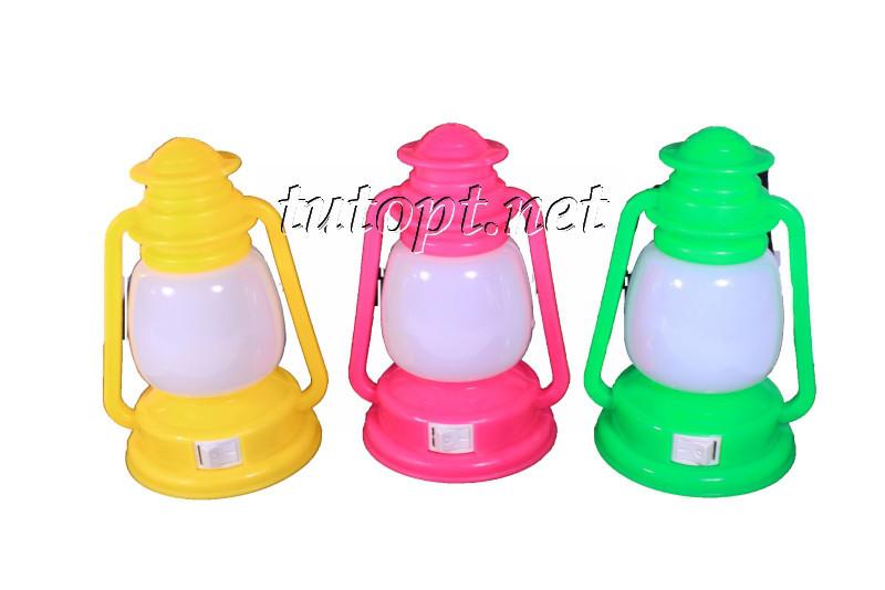 """Ночник """"Керосиновая Лампа"""" на светодиодах, цветной с выключателем 220V 3 LED"""