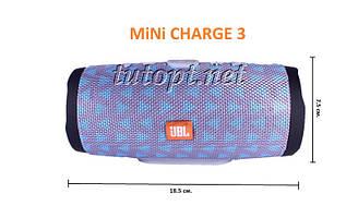 "Портативная беспроводная колонка JBLMINI CHARGE 3 USB, SD, FM, Bluetooth ""Реплика"""
