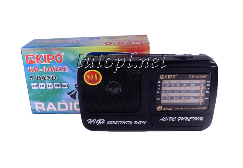 Радиоприемник кипо Kipo KB-409AC, AM/FM/TV/SW1.5W2 первый сорт