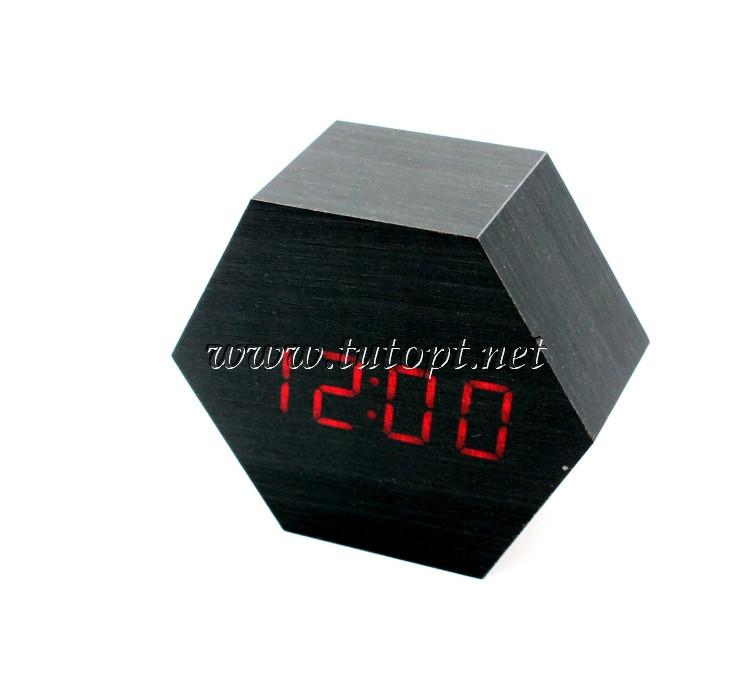 Часы-Будильник VST-876-1-Red с температурой и подсветкой USB/3R3/AAA