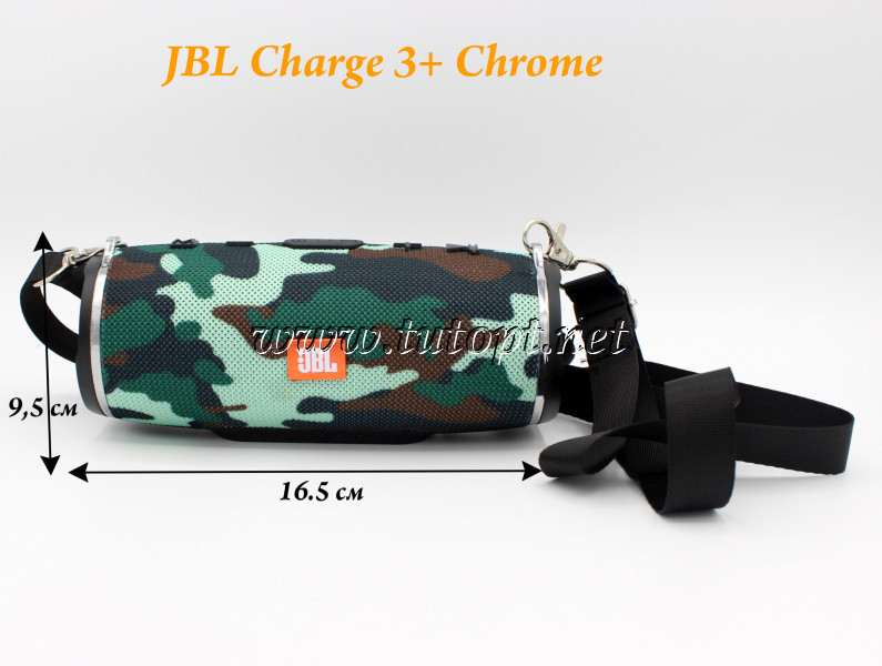 "Портативная беспроводная колонка JBL MINI CHARGE 3+ Хром USB, SD, FM, Bluetooth ""Реплика"""