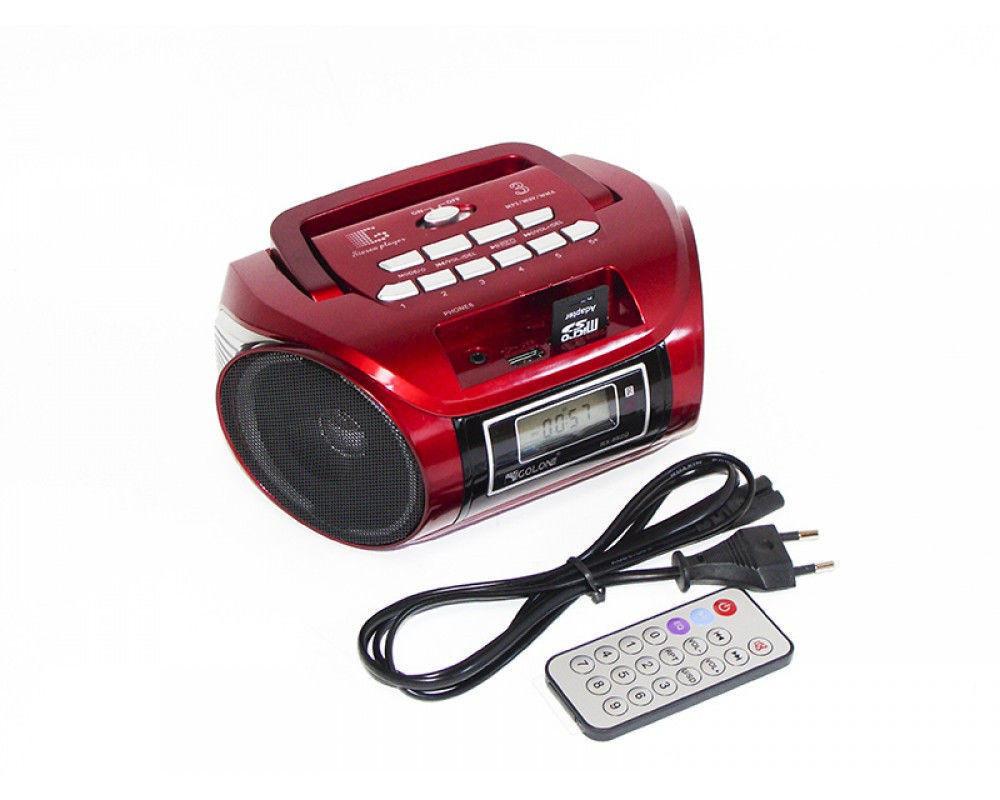Радиоприемник Golon RX-662Q аккумуляторный, USB/SD проигрыватель, пульт