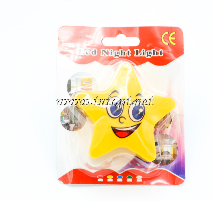 "Ночник ""Звезда"" на светодиодах с выключателем 220V 5 LED"