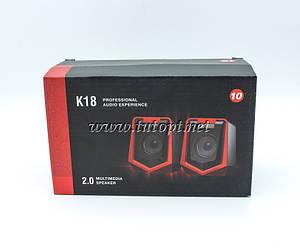 Колонка от USB для компьютера с регулятором громкости  10см*8.2см*6.7шт K18