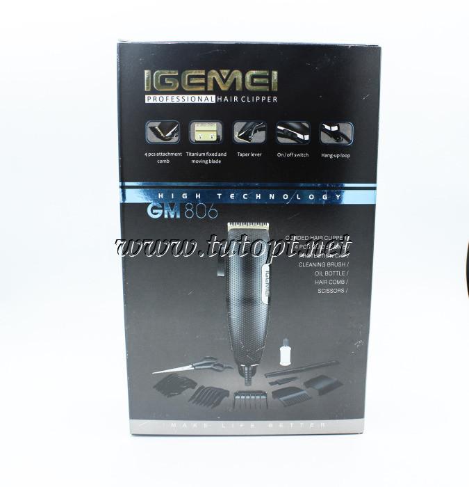 Профессиональная машинка для стрижки волос IGemei GM-806 9W