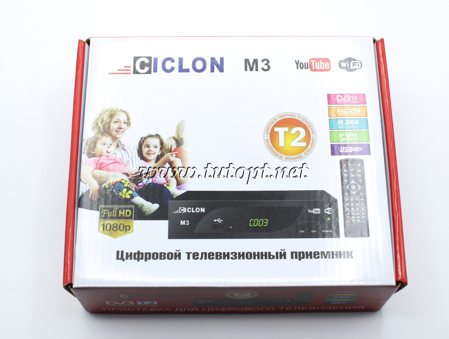 Цифровой Тюнер Т2 CICLON M3 Youtube WiFi FullHD 1080 HDMI Пластик