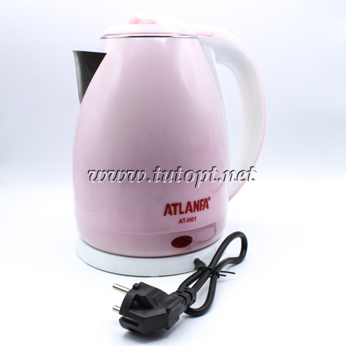 Электрочайник Atlanfa AT-H01 - чайник 2л 1.5кВа электрический с нержавейки дисковый беспроводной с п