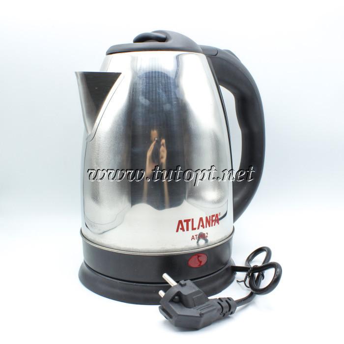 Электрочайник Atlanfa AT-H02 - чайник 2л 1.5кВа электрический с нержавейки дисковый беспроводной с п