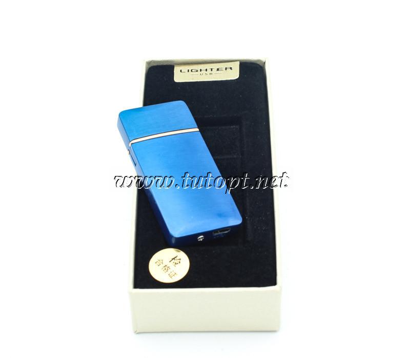 USB зажигалка Classic Lighter в титановом корпусе, цвет - синий  A020