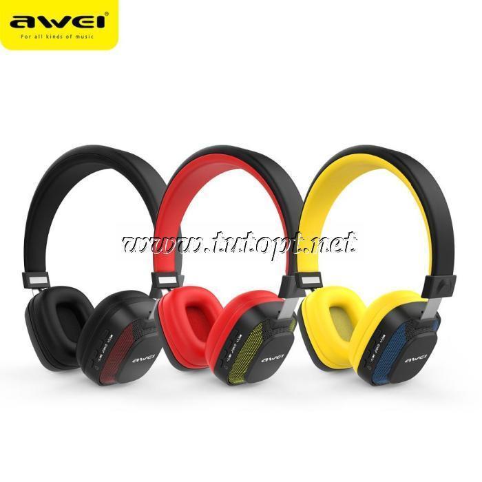 Наушники беcпроводные awei A760BL с Bluetooth, MP3 и FM
