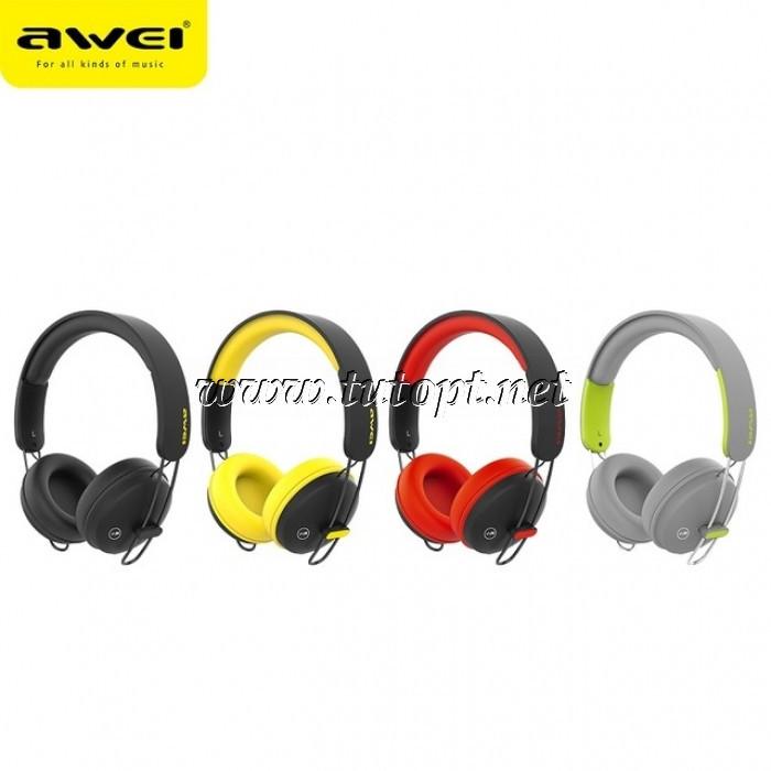 Наушники беcпроводные awei A800BL с Bluetooth, MP3 и FM