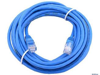 Сетевой кабель JXD 2 метра UTP 4, литой patch cord синий