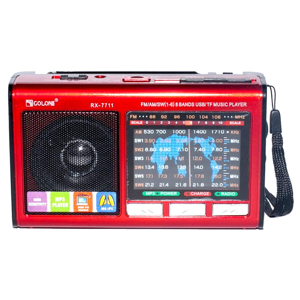 Радиоприемник Golon RX-7711аккумуляторный, USB/SD проигрыватель